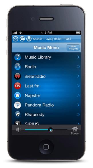 iPhone 5 Music Menu