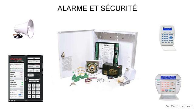 Alarme et sécurité